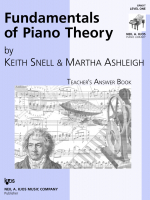 Fundamentals of Piano Theory - Teacher's Answer Book - Vol.1